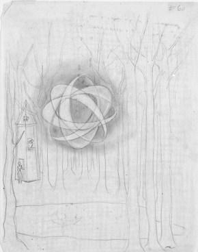 Reflejo Lunar (Dibujo Previo), 1957.