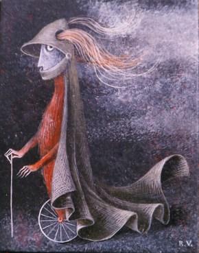 Caballero en Monociclo, 1959.