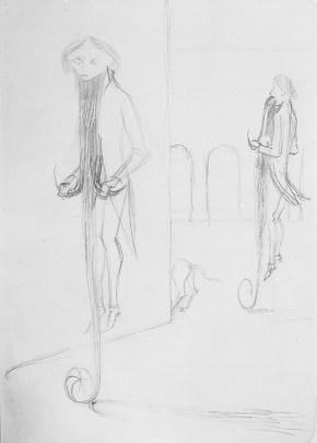 Locomoción Capilar (Dibujo Previo III), 1959.