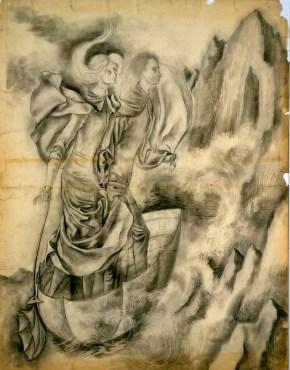 La Huida (Dibujo Previo II), 1961.