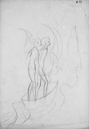 La Huida (Dibujo Previo), 1961.