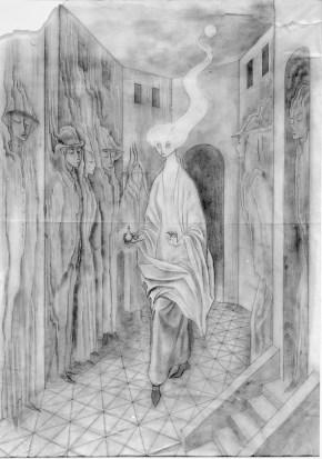 La Llamada (Dibujo Previo), 1961.