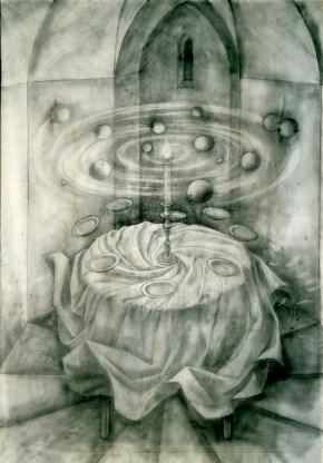 Naturaleza Muerta Resucitando (Dibujo Previo), 1963.