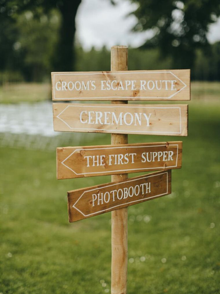You don't want your guests getting lost between the highway exit and the chapel parking lot. If you spell it out for them, they're more likely to be on time and the entire day has a better chance of running smoothly.