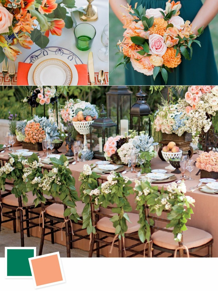 Emerald and Melon: Evergreen Wedding Colour Combos For Your Wedding Decoration