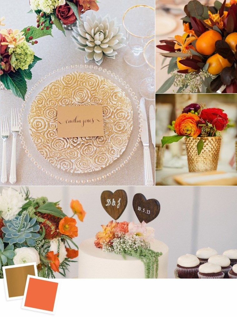 Copper and Persimmon: Evergreen Wedding Colour Combos For Your Wedding Decoration