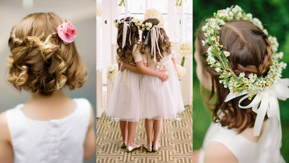 14 Adorable Flower Girl Hairstyles   To Focus On The Mini Members Of Your Wedding Party