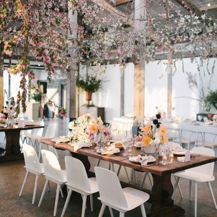 Flower Chandelier Ideas To Give Your Wedding A Garden-Fresh Feel
