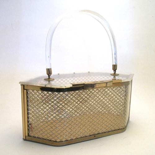 majestic lucite box purse classic art deco-the remix vintage