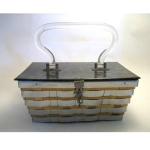 dorset rex lattice box purse lucite top-the remix vintage fashion