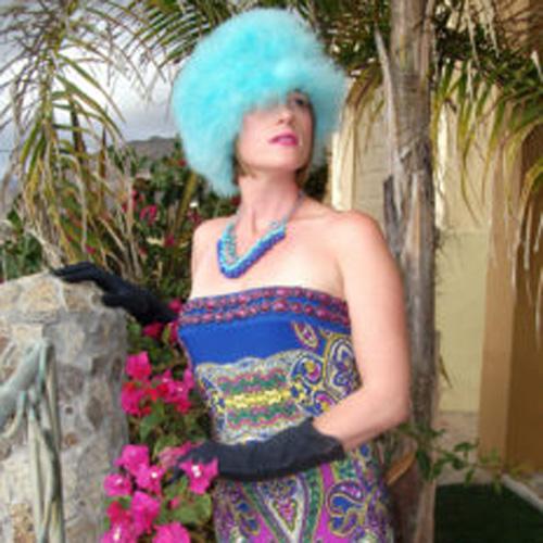 blue bead bib necklace - remix vintage clothing