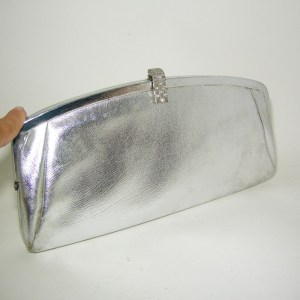 60s silver clutch mod-the Remix Vintage Fashion