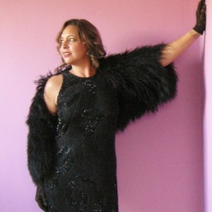 iisli shrug black fur mongolian lamb-the remix vintage fashion