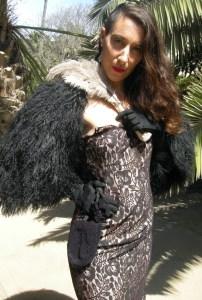 Iisli shrug black fur designer 80s-the remix vintage fashion