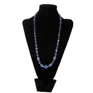 blue crystal necklace-the remix vintage fashion