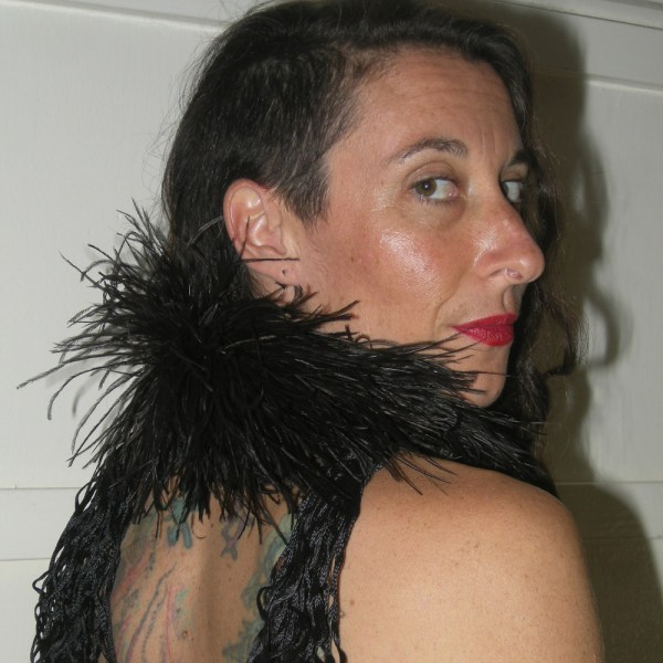 boa ostrich feather art deco with tassels-the remix vintage fashion