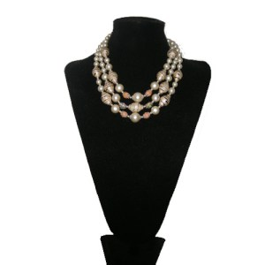 tri strand japan necklace-the remix vintage fashion