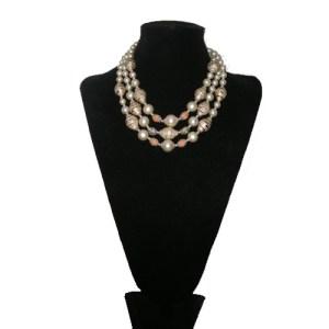 tri strand japan necklace-the remix vintage fashion