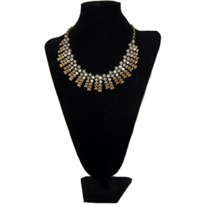 sarah coventry gold rhinestone necklace-the remix vintage fashion