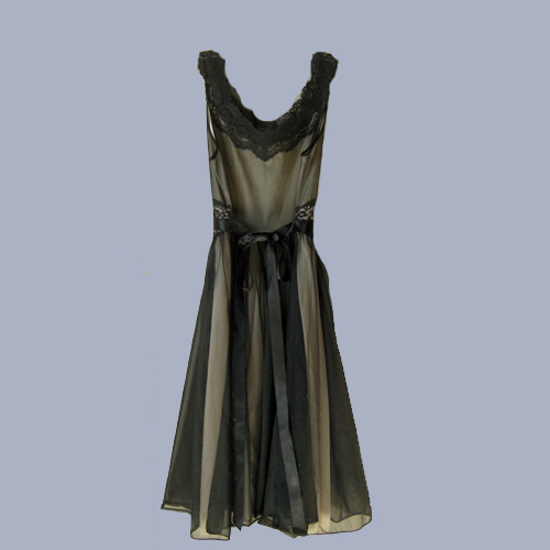 vanity fair negligee black 60s mod-the remix vintage fashion