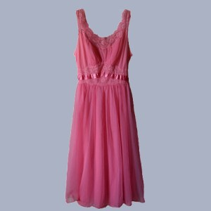vanity fair pink negligee-the remix vintage fashion