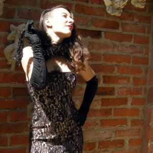 flapper lace dress-the remix vintage fashion