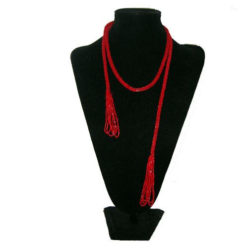 red flapper lariat-the remix vintage fashion