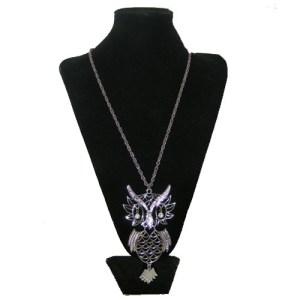 70s owl pendant groovy necklace-the remix vintage fashion