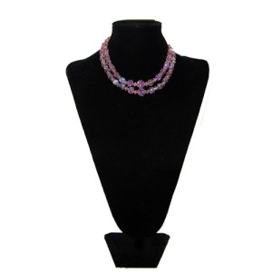 pink crystal choker-the remix vintage fashion