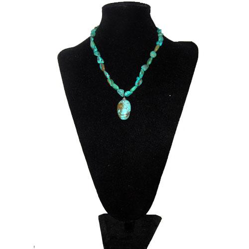 turquoise necklace-the remix vintage fashion