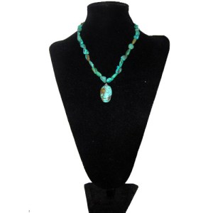 turquoise necklace-the remix vintage fashion