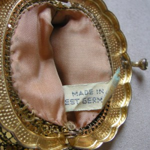 gold mesh coin purse west germany-the remix vintage fashion