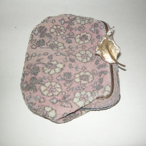 pink floral purse art deco upcycle design-the remix vintage fashion
