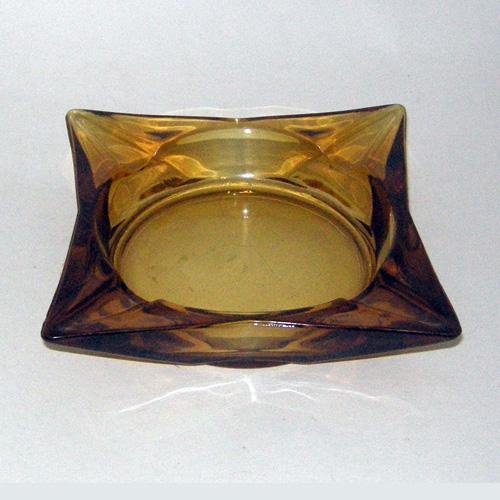 60s ashtray square glass-the remix vintage fashion