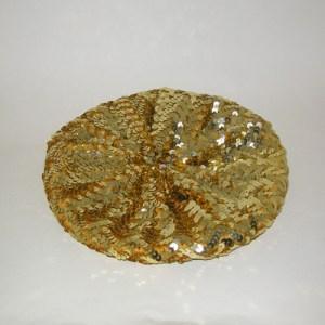 disco beret gold sequin-the remix vintage fashion