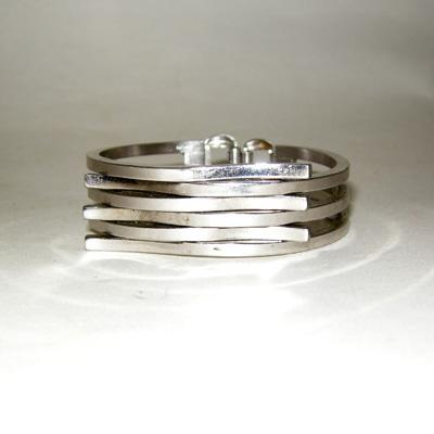 machine age bracelet industrial chrome-the remix vintage fashion