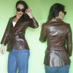 beged-or leather jacket 60s 70s-the remix vintage fashion