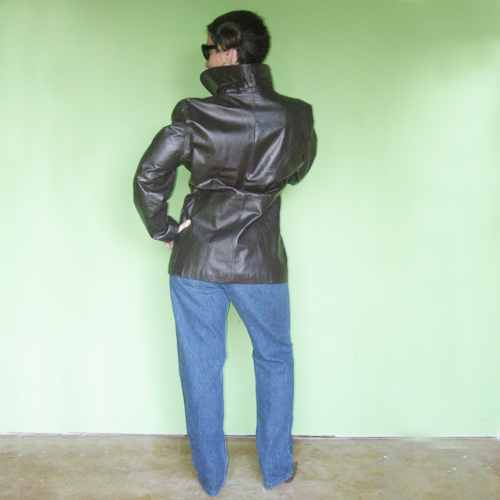 leather car coat argentia 70s-the remix vintage fashion