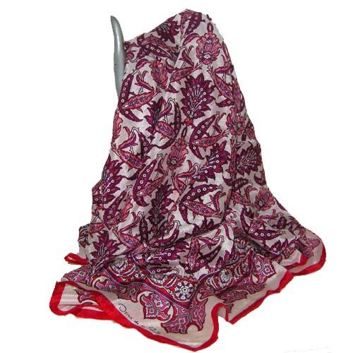 oscar de la renta silk scarf-the remix vintage fashion