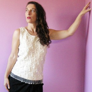 60s beaded sequin wool top flapper-the remix vintage fashion