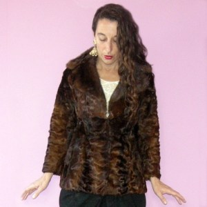 persian lamb jacket mink collar petite 60s-the remix vintage fashion