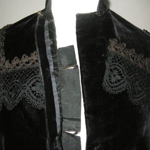 edwardian jacket ladies velvet lace victorian era-the remix vintage fashion