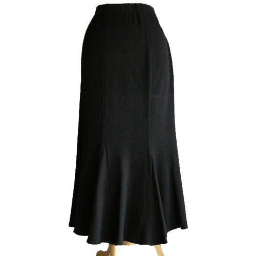 st. johns skirt nordstrom black wool rayon trumpet flare size 12-the remix vintage fashion