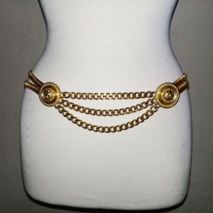 80s gold chain belt-the remix vintage fashion
