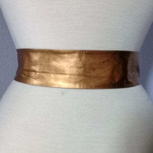 gold leather belt-the remix vintage fashion