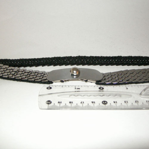 80s snake stretch belt-the remix vintage fashion