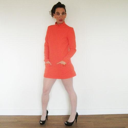 howard wolf clothing mini dress mod orange