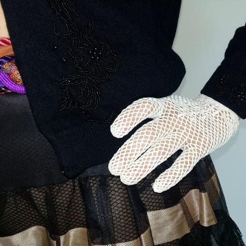 white crochet gloves-the remix vintage fashion