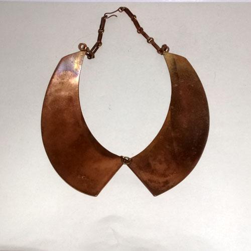 Mexico Mid Century collar Quetzacoatl mixed metals-the remix vintage fashion