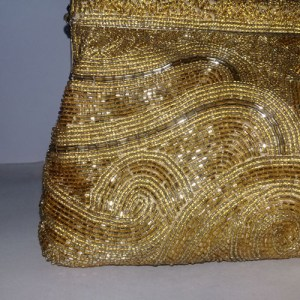 jeromes beaded purse gold clutch 80s-the remix vintage fashion